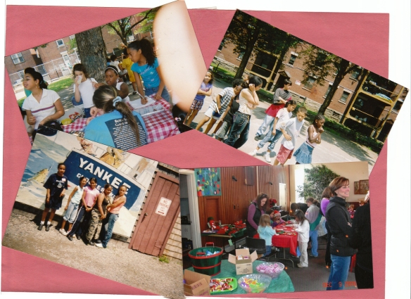 Scrapbook photos of Friends of Mary Jane Lee Park activities