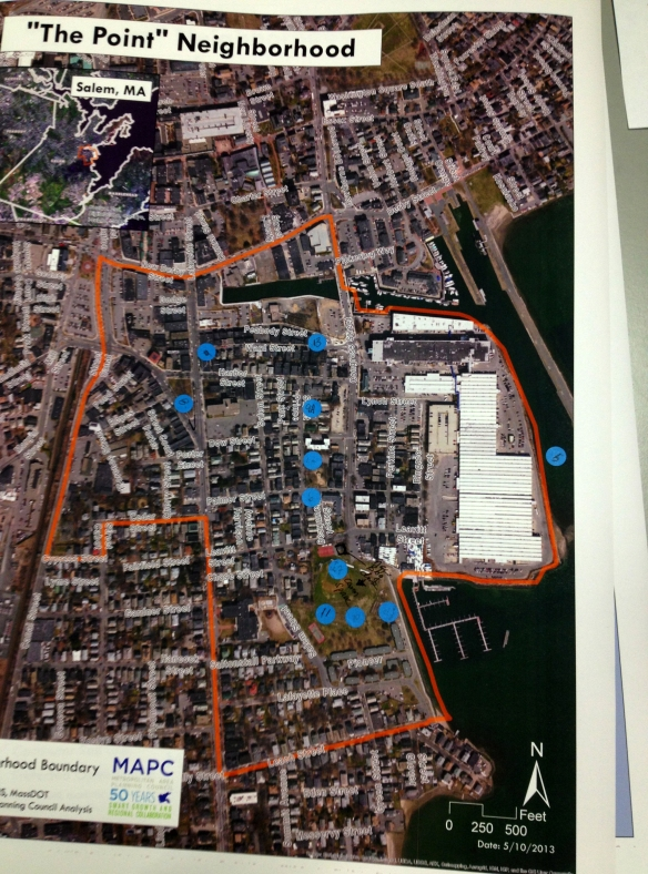 Point Visioning aerial map with Open Space Intervention Dots