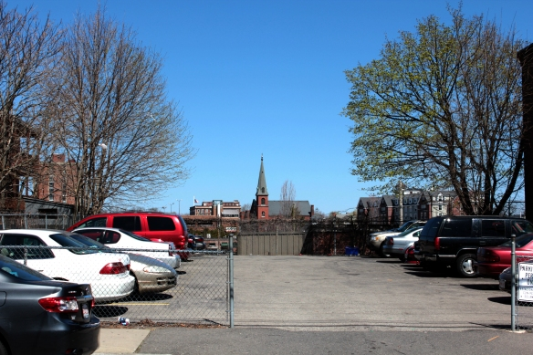 view to Immaculate Conception, the community church