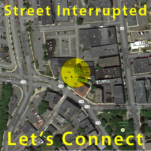 Street Interrupted at Dodge Street Court