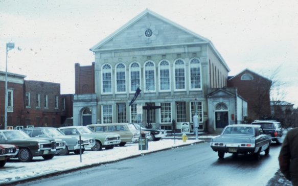 Peabody Museum in 1971... surrounded by cars! (photo by John F Collins, courtesy of the John F Collins Society)